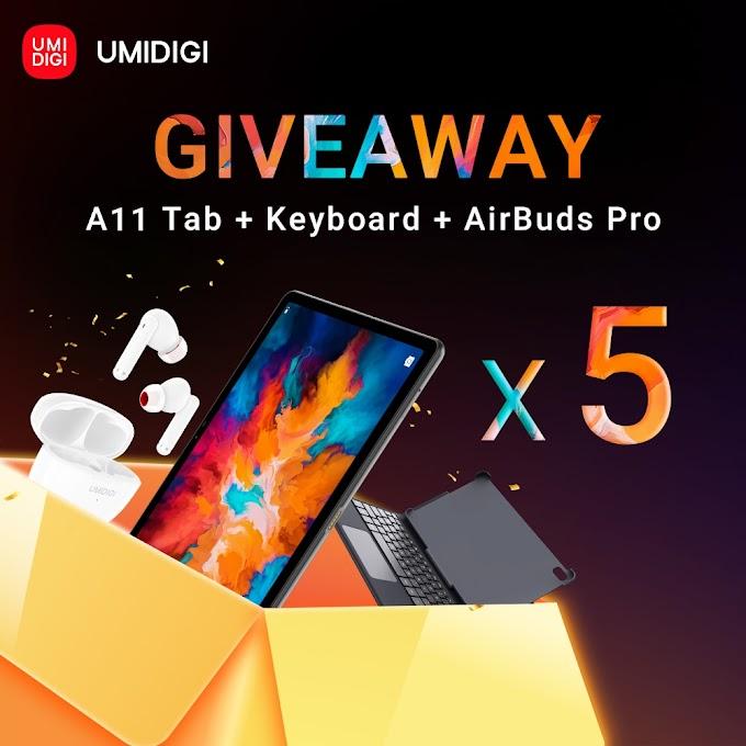 Sorteio de um Tablet A11 Tab + Teclado + UMIDIGI AirBuds Pro