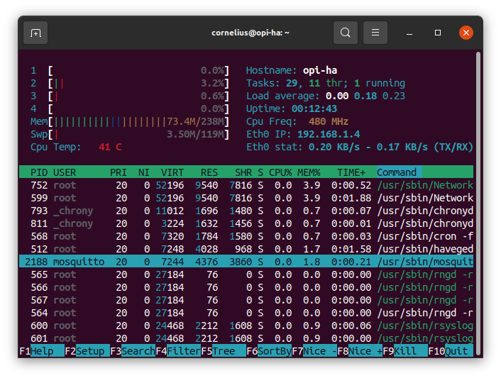 Mosquitto is running on Armbian