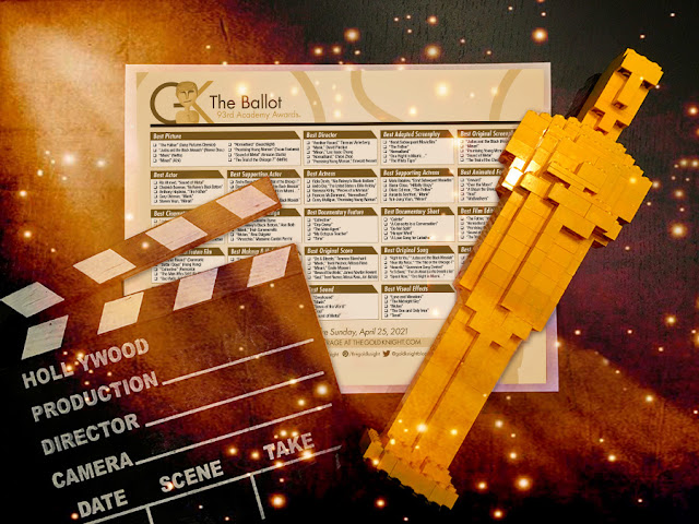 2021 Oscars Party Favor - Oscar Ballot, Clapboard, LEGO Oscar.