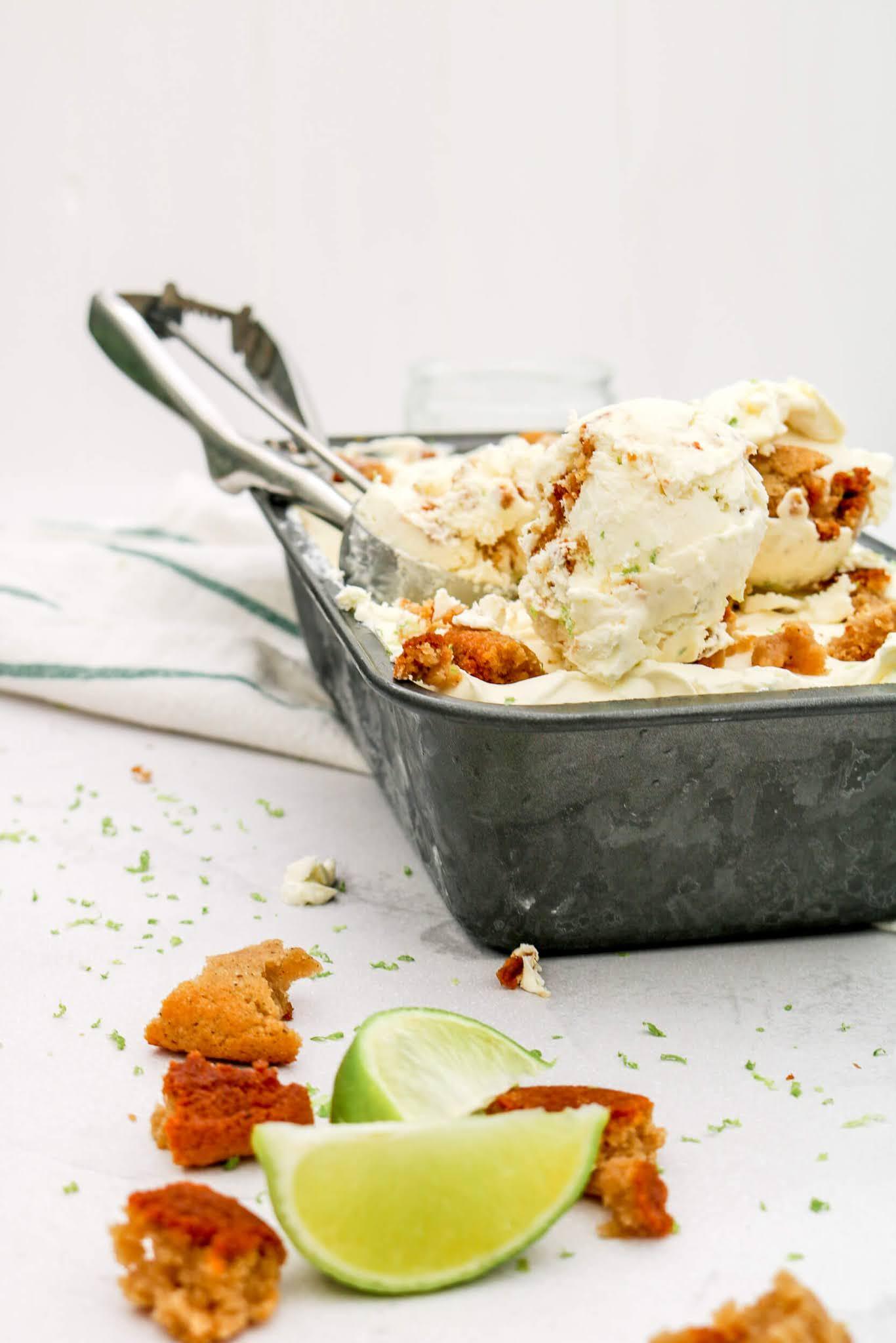No Churn Lime Pie Cheesecake Ice Cream | Take Some Whisks