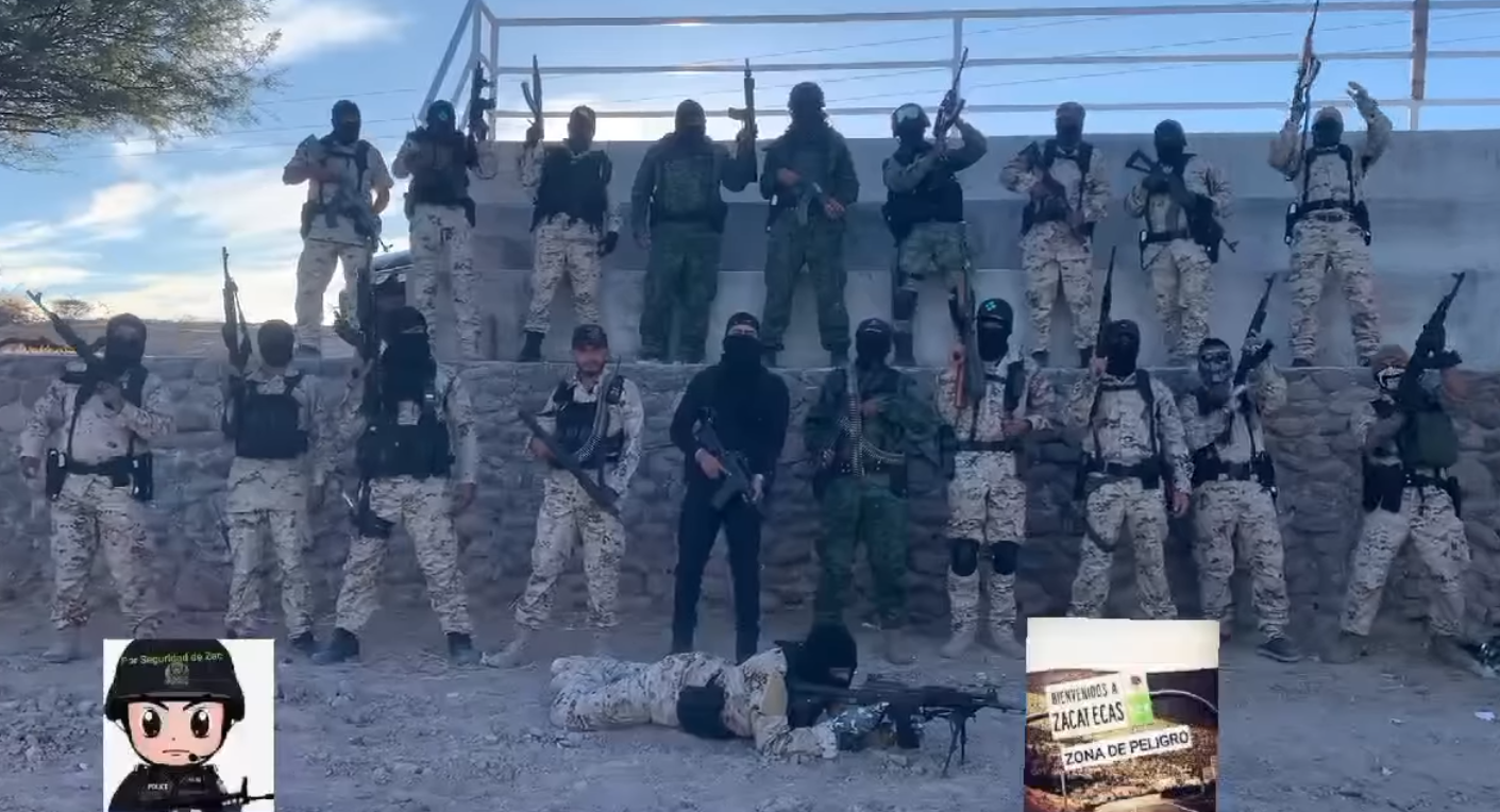 VIDEO: Grupo Guerrero del CJNG acusa al Cartel de Sinaloa de los ataques, levantones en Zacatecas y de ser protegidos del General Cienfuegos