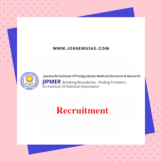 JIPMER Puducherry Recruitment 2020 for Senior Research Fellow (SRF)