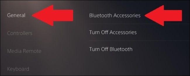 أين تجد إعدادات البلوتوث في PS5