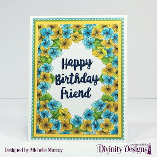 Divinity Designs Paper Collections: Birthday Brights, God's Beauty Coloring Pages,  Custom Dies: Celebration Words