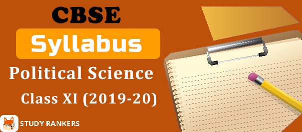 CBSE Class 11 Political Science Syllabus 2019-20