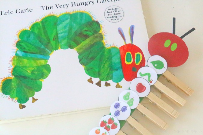 very hungry caterpillar sequencing paint stick activity