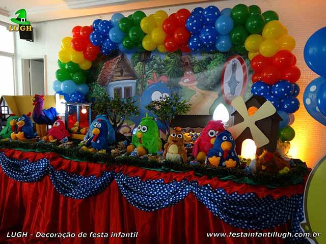 Decoração infantil tema Galinha Pintadinha - Mesa decorativa do bolo de aniversário