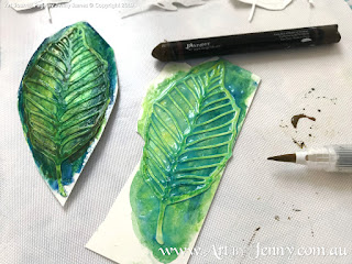 painting leaves of mixed media artwork featuring Mother Nature and the Earth by Jenny James