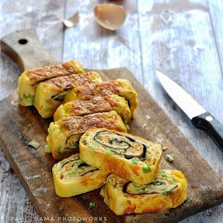 Ide Resep Masak membuat Gyeran Mari aka Omelete Gulung