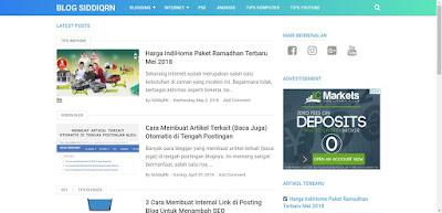 Review Template Blogger Premium VioMagz Karya Mas Sugeng