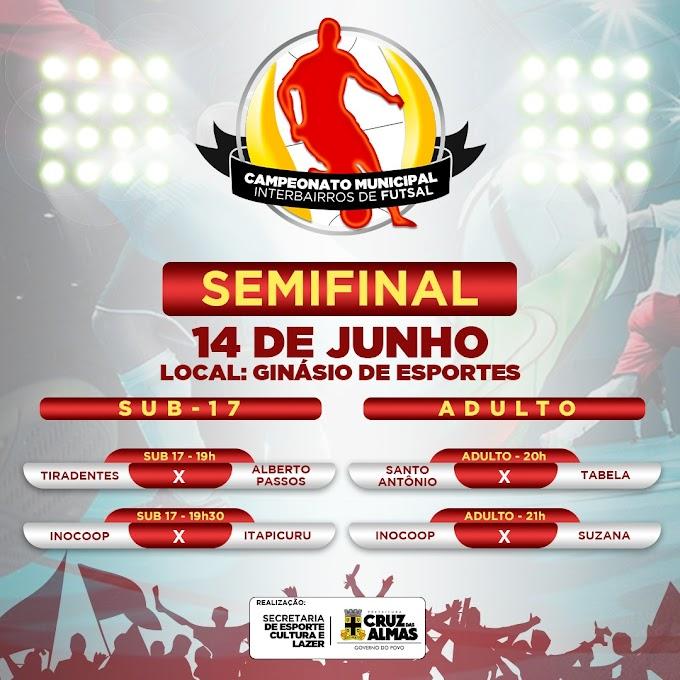 Semifinal do Campeonato Municipal Interbairros de Futsal acontece nesta sexta-feira (14)