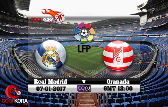 مشاهدة مباراة ريال مدريد وغرناطة اليوم 7-1-2017 في الدوري الأسباني