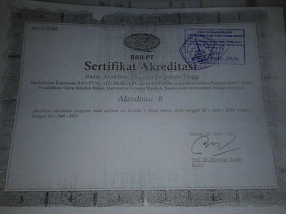 Sk Akreditasi Perguruan Tinggi Dari Ban Pt