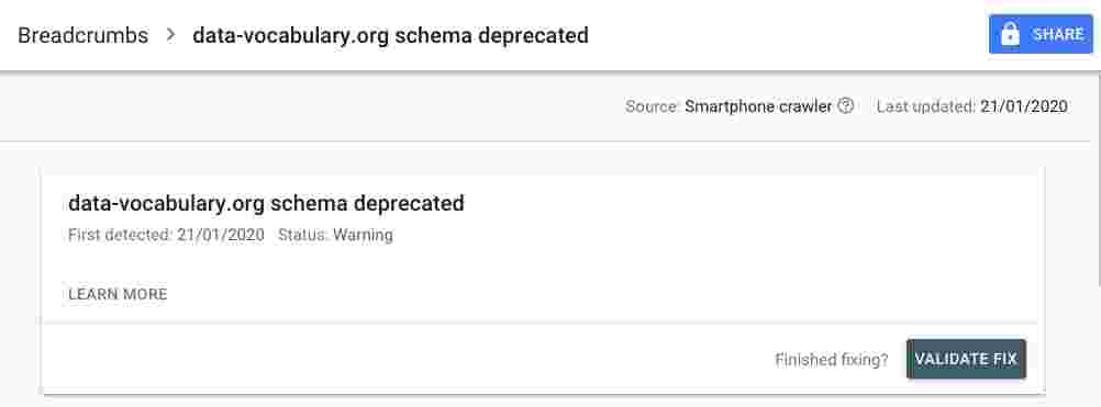 Gagal Atasi Masalah Data-vocabulary.org Deprecated?