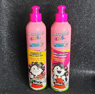 resenha shampoo e condicionador bio extratus kids cabelos cacheados dicas da tia