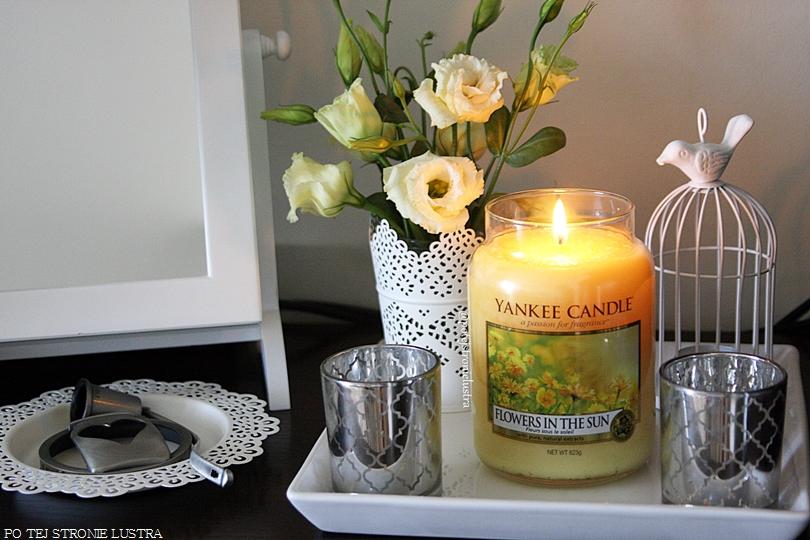 dekoracja domu ze świecą yankee candle