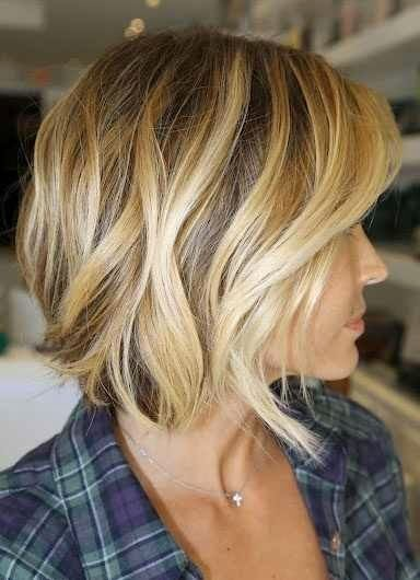 Wavy bob. I love this, but not sure I wanna go this short again...