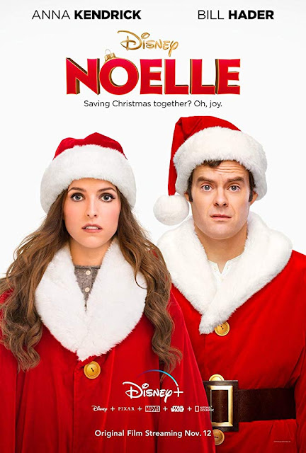 "Movie poster for Disney's 2019 Christmas film ""Noelle,"" starring Anna Kendrick, Bill Hader, Shirley MacLaine, Kingsley Ben-Adir, and Billy Eichner"