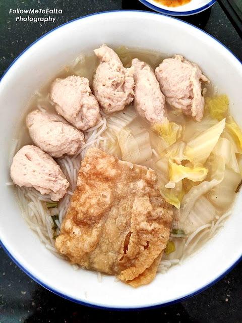 Fish Paste Noodles In Clear Soup  RM 7