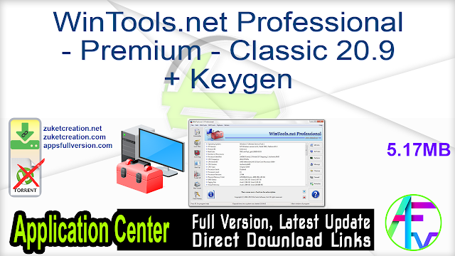 WinTools.net Professional – Premium – Classic 20.9 + Keygen