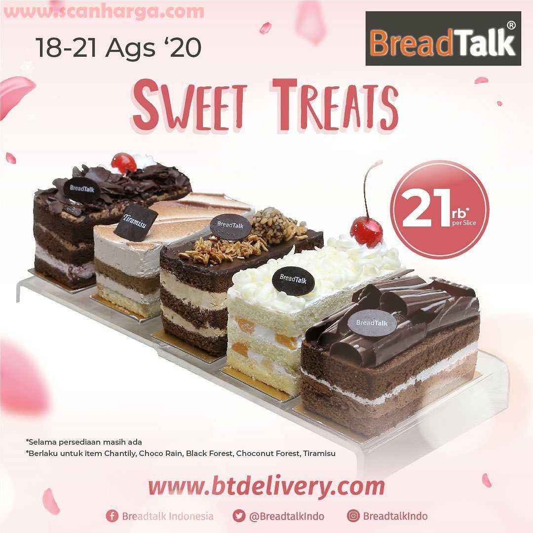 Breadtalk Promo Harga Spesial Sweet Treat Cuma 21Rb / Slice Periode 18 - 21 Agustus 2020