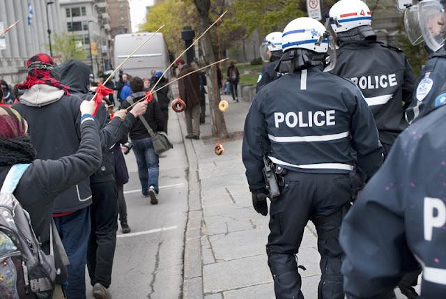 Manifestation du 1er mai 2012 (fête des travailleurs), centre-ville de Montréal [photos David Champagne]