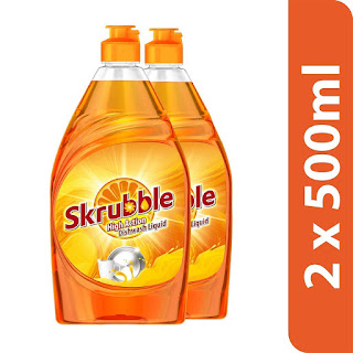 Skrubble High Action Dishwash Liquid - 500 ml (Pack of 2)