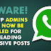 Police warning for WhatsApp Group admins