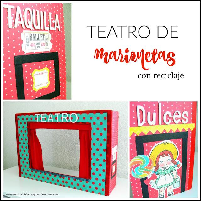 Teatro de títeres hecho a mano cartón