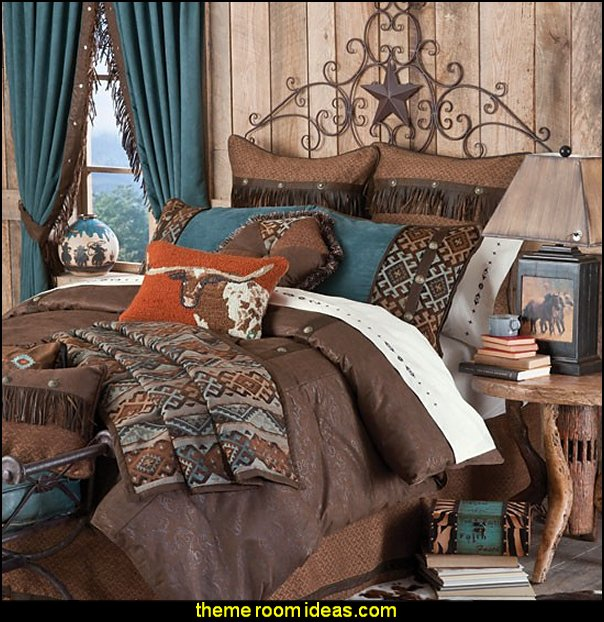 Rancho Del Rio Bedding western theme bedding western style decorating cowboys theme