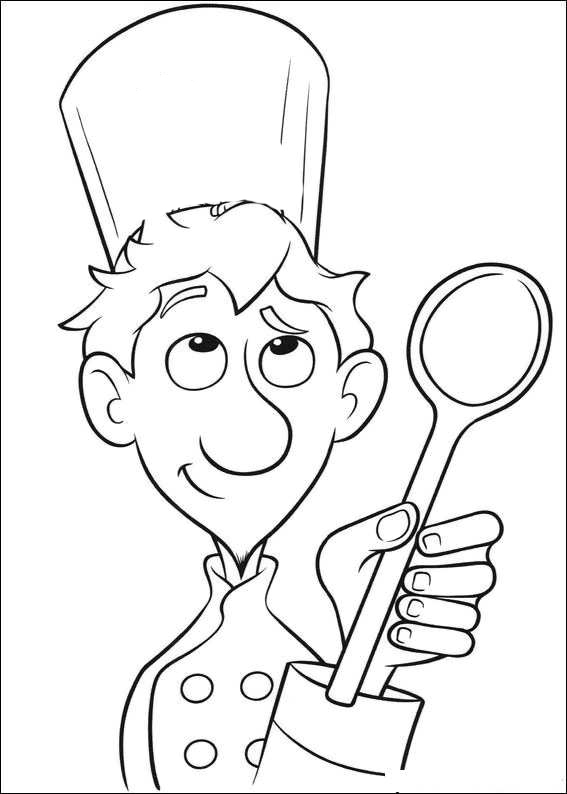 Boston chefs valentines day printable coloring pages ~ Coloring Page Of Master Chefs From Disney Movies