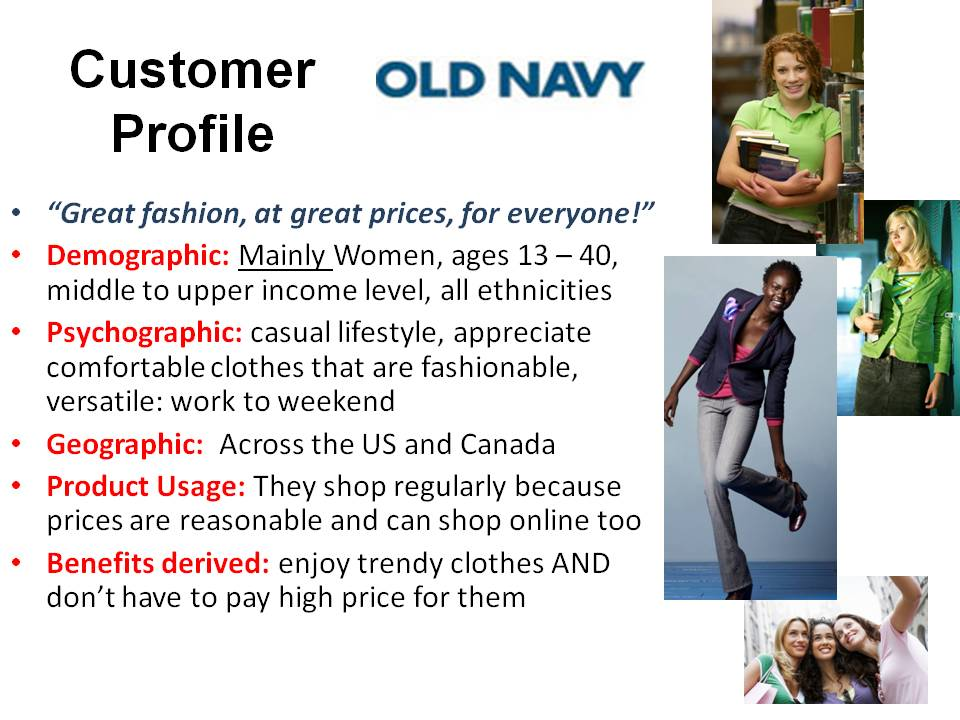 Marketing Portfolios - customer profile