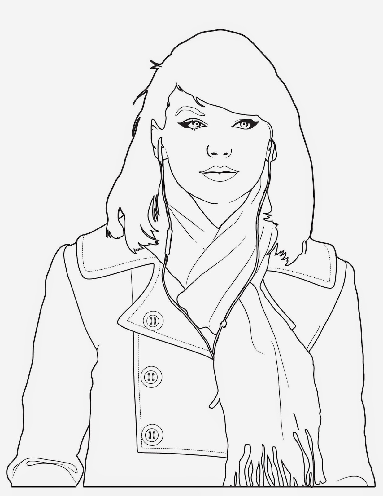 It's just a graphic of Dynamic Taylor Swift Coloring Page