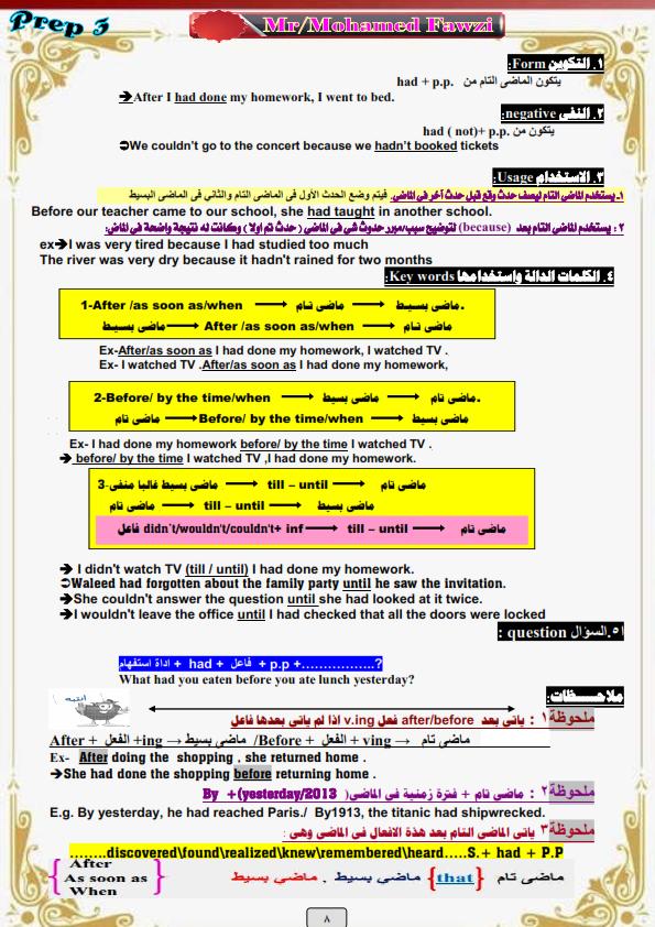 أقوى مراجعات اللغة الانجليزية للصف الثالث الاعدادي الترم الثاني -%2B_008