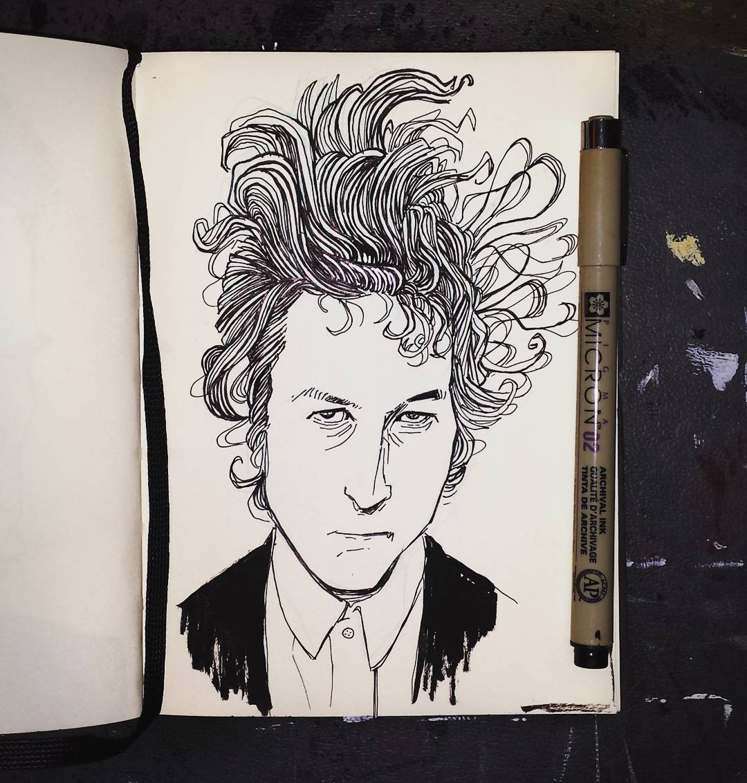 Bob Dylan portrait illustration