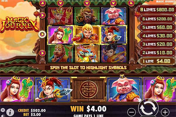 Main Gratis Slot Indonesia - Magic Journey (Pragmatic Play)