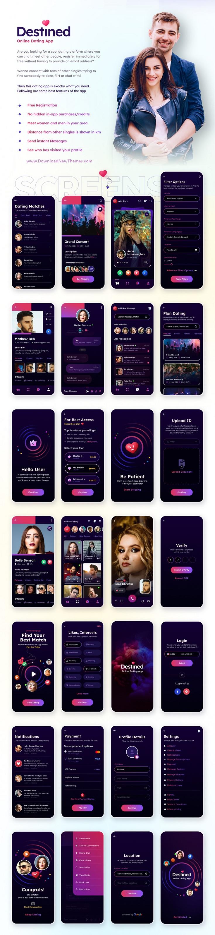 Dating App UI Figma Template