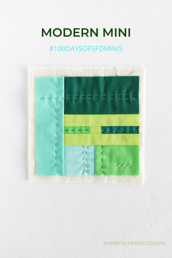 100 Days of sfD minis | Honest state of a modern quilter's WIP List | Q1 2020 Finish-a-Long | Shannon Fraser Designs #modernquilter #worksinprogress #modernimprov #miniquilt