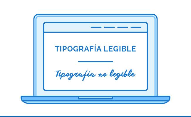 Tipografía legible