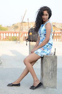 Actress Priyankha Stills in Floral Short Dress at Golmal Gullu Movie Pressmeet 0335.JPG