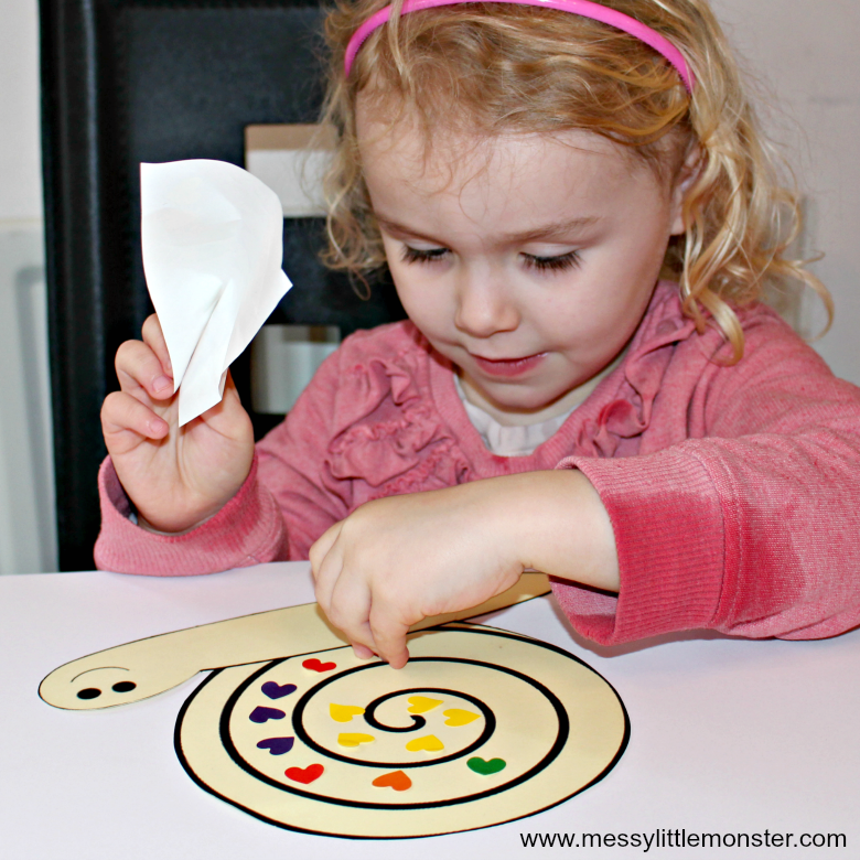 sticker fine motor activity