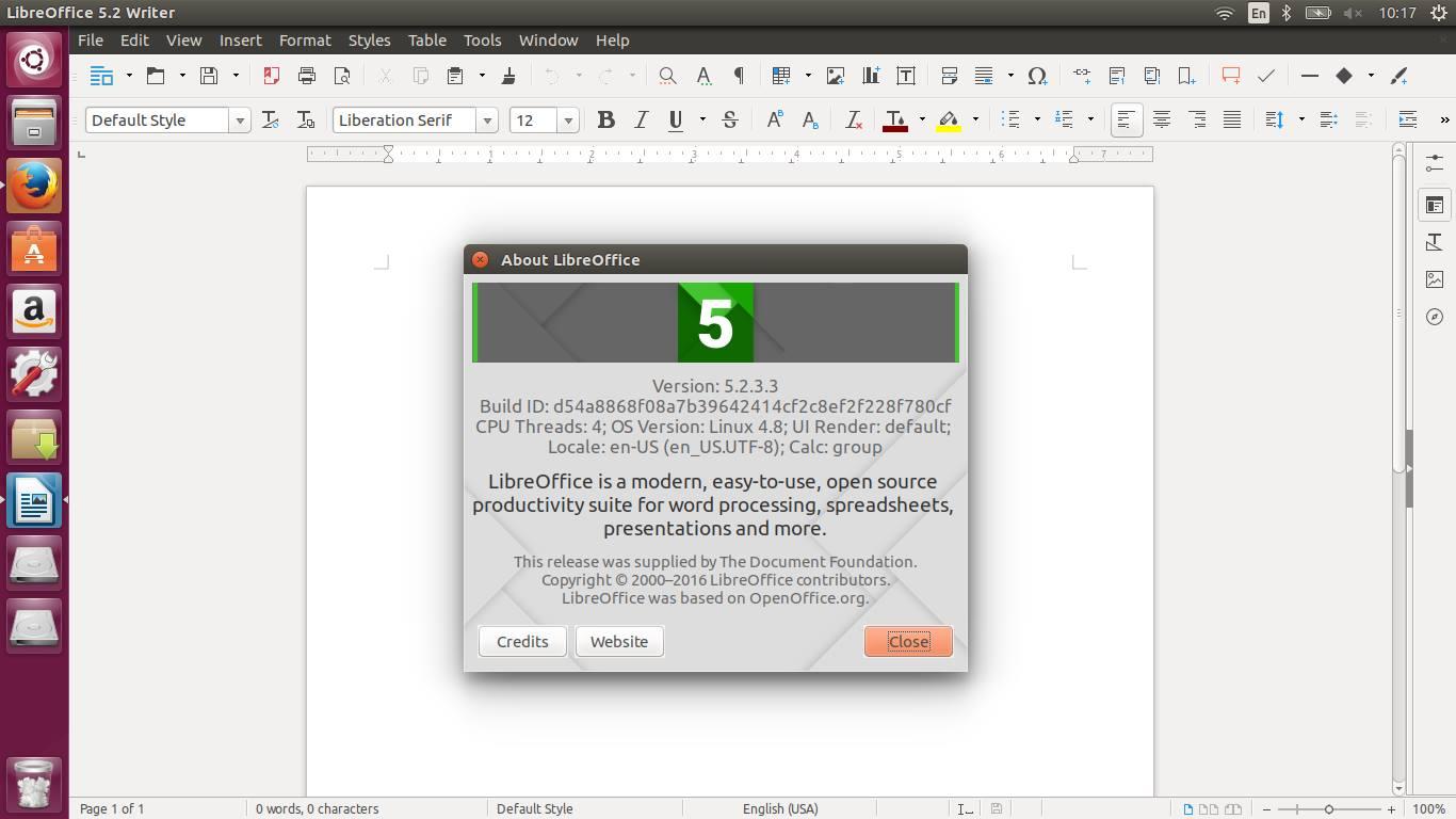 libreoffice 5.2.3