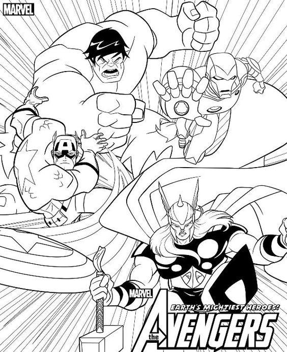 Avengers Para Colorir Vingadores Pintar Espaco Educar Desenhos
