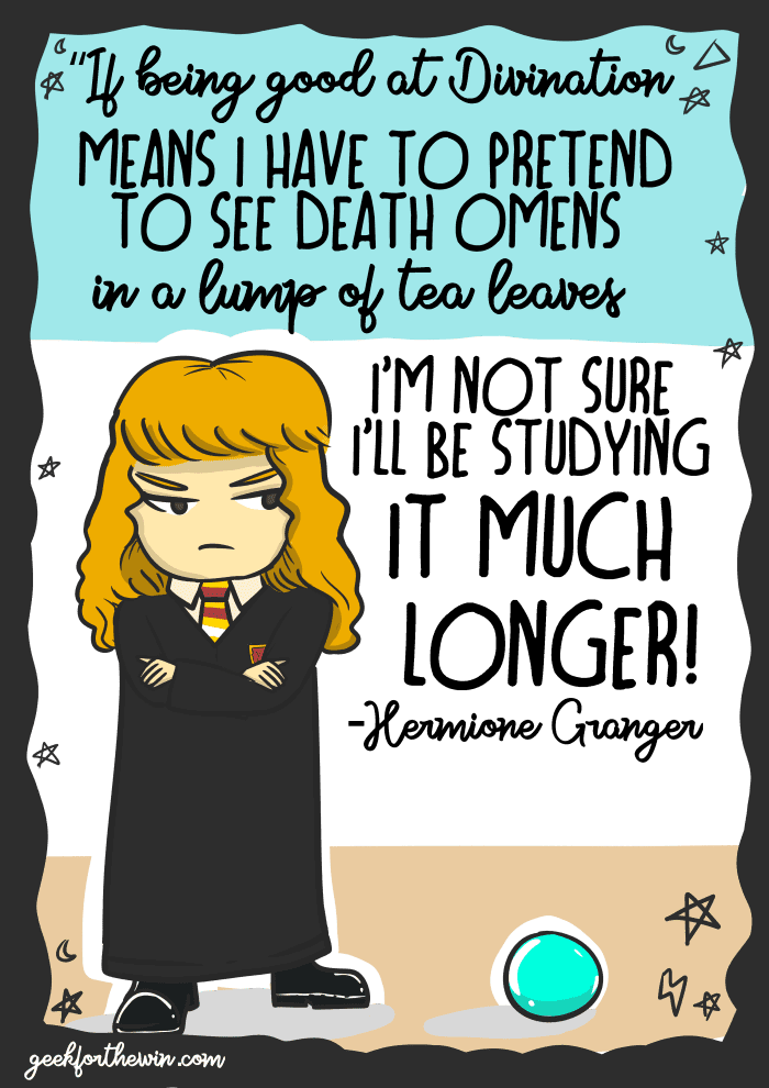 Hermione Granger Illustrative Quotes Geek For The Win