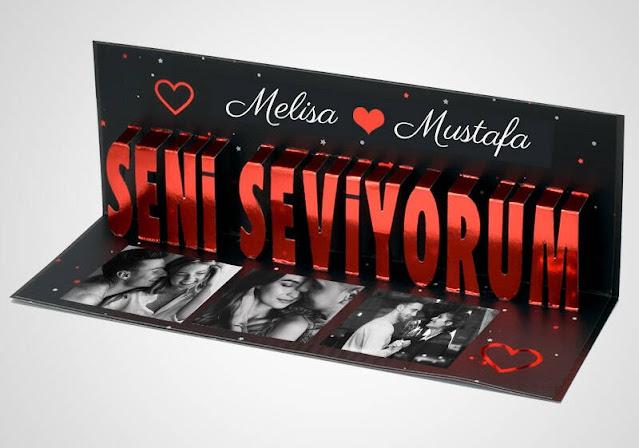 3D Seni Seviyorum Banner