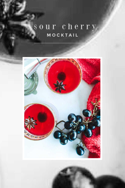 sour cherry mocktail