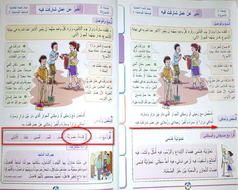 تقرير عن تعديلات  المفيد في اللغة العربية المستوى الثالث  الطبعة الجديدة 2020