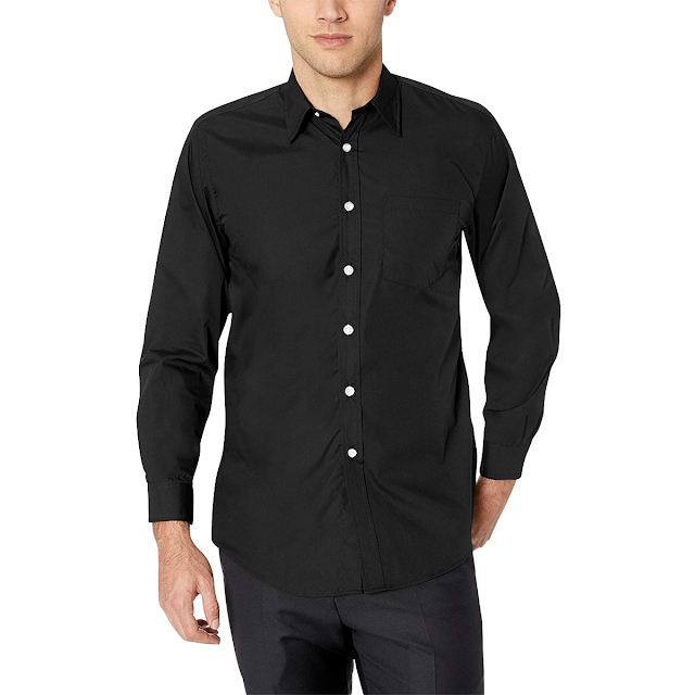 GOMAGEAR FIT LONG SLEEVE SHIRT - BLACK