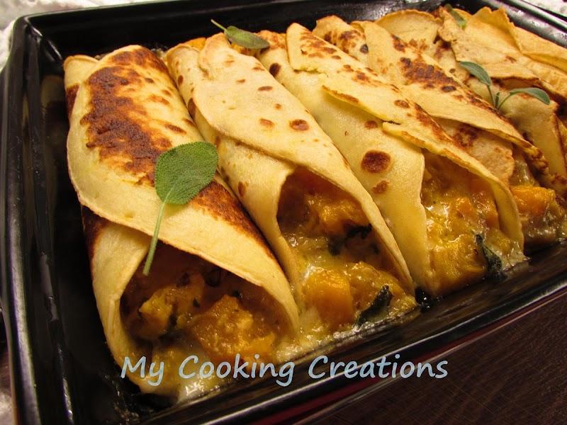 Палачинки с тиква и горгонзола * Cannelloni con zucca e gorgonzola