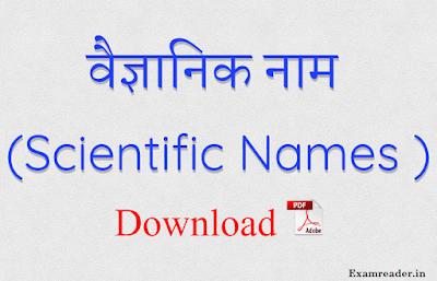 All Scientific Names PDF